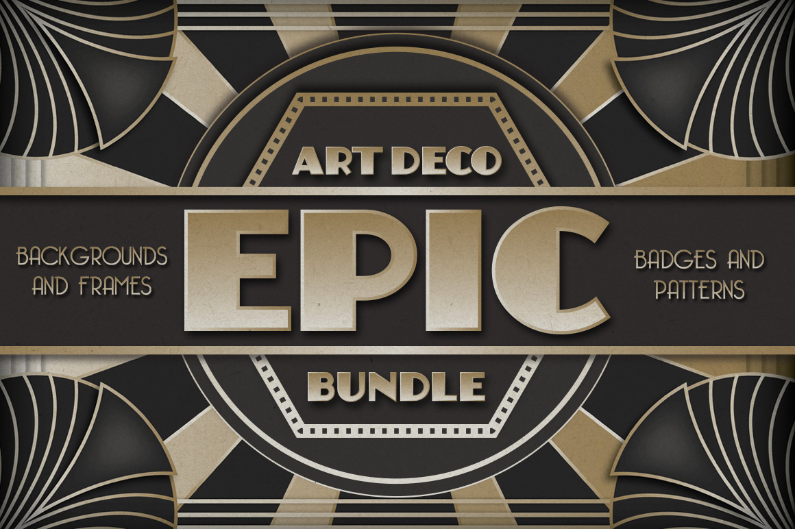 Art deco design resources for photoshop and illustrator for Design art deco