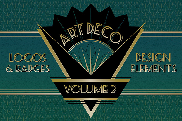 Art Deco Logos Badges and Design Elements 1