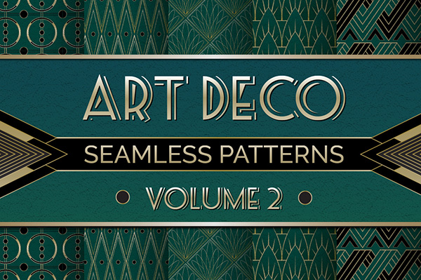 art deco seamless patterns vol 2