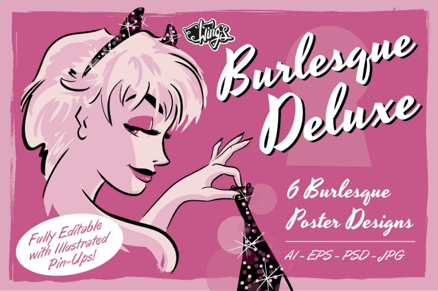 Burlesque Deluxe 6 Customisable Posters