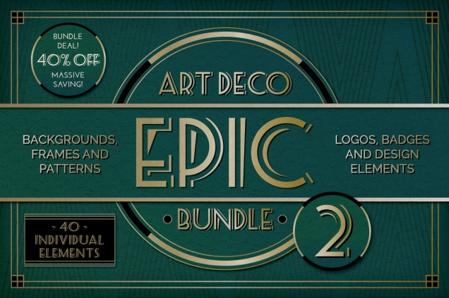 Epic Art Deco Bundle 2 Vector Downloads