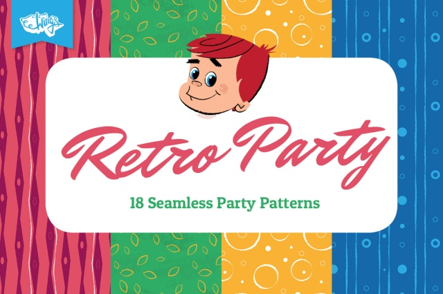 Retro Party Seamless Patterns