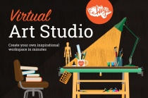 Wing's Virtual Art Studio Mock Up Kit- front page